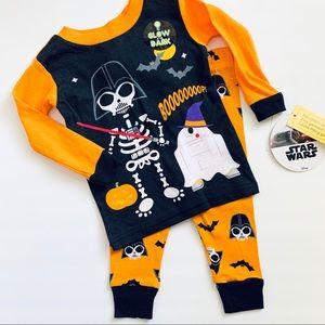 Star Wars Darth Vader Infant Boy Halloween PJ Set